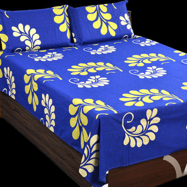 100% Cotton 6 Double Bedsheets with 12 Pillow Covers (6BS1)