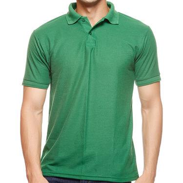 Delhi Seven Polo Neck Tshirt For Men_D7ts002 - Green