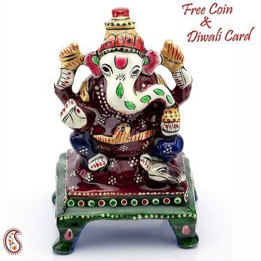 Handpainted Enamelled Metal Ganapati_08