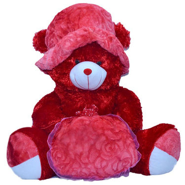 Kaku Loveable Teddy withCap & Loveble Heart_DKK-21 A