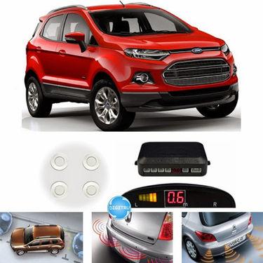 Digitru - Reverse Car Parking Sensor for Ecosport (White)_DG20150341
