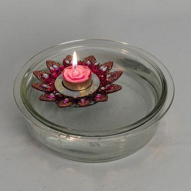 Big Floral Shape Floating Candles- Multicolor