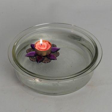Rose Shape Multicolor Floating Candles
