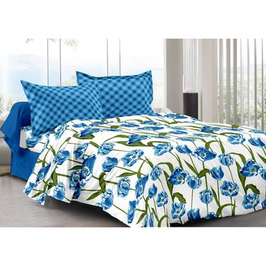 Valtellina 100% Cotton Double Bedsheet with 2 Pillow Cover-3009-F