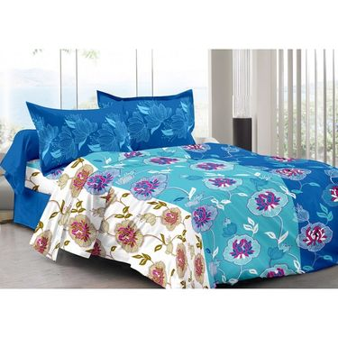 Valtellina 100% Cotton Double Bedsheet with 2 Pillow Cover-3014-B