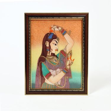 Little India Pretty Princess Bani Thani Gemstone Painting 339