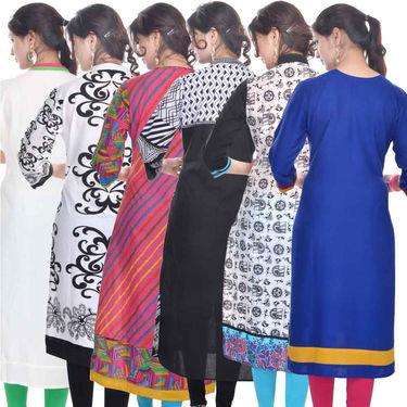 Combo of 6 Cotton Printed Kurti -DLI6KCO602