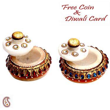 Beautiful Marble Made Sindoor Dani
