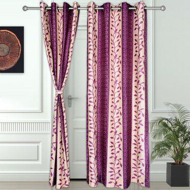 Story @ Home Purple 2 pc Door curtain-7 feet-DNR3017