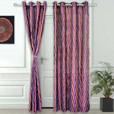 Story @ Home Purple 2 pc Door curtain-7 feet-DNR3024