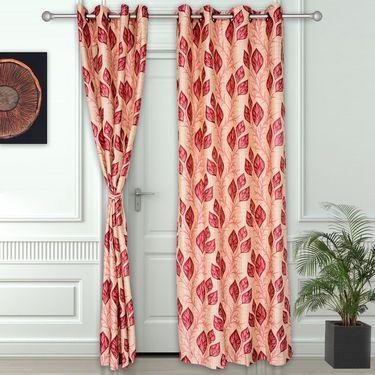 Story @ Home Maroon 2 pc Door curtain-7 feet-DNR3042