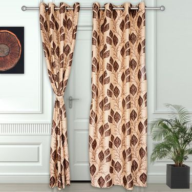 Story @ Home Coffee 2 pc Door curtain-7 feet-DNR3043