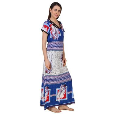 Fasense Shinker Cotton Printed Long Nighty -DP181C2