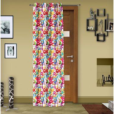 Story @ Home 1 pc Digital Print Door curtain-7 feet-DRT1101