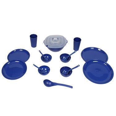 Kitchen Duniya Round Dinner Set 16 Pcs-Electric Blue