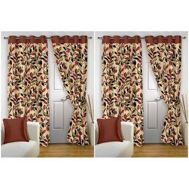 Storyathome Set of 4 Door curtain-7 feet-DTZ_2-1001