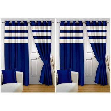 Storyathome Set of 4 Door curtain-7 feet-DTZ_2-1011