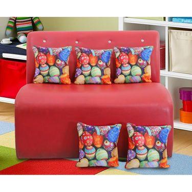 Dekor world Digital Cushion Collecetion (Pack of 5 Pcs)-DWCC-12-164-5