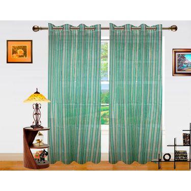 Dekor World Stripe Shree Window Curtain-Set of 2 -DWCT-760-5