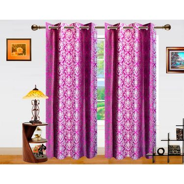 Dekor World Ombre Damask Window Curtain-Set of 2 -DWCT-763-5