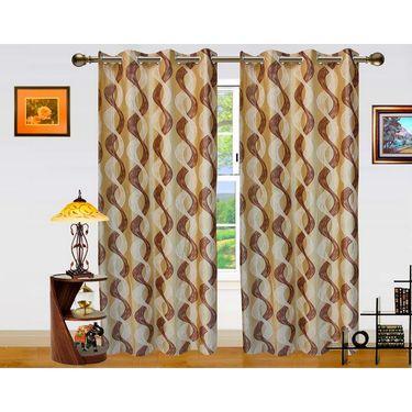 Dekor World Altra Lahar Window Curtain-Set of 2 -DWCT-766-5