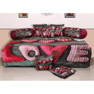 Set of 8 Dekor World Velvet Digital Printed Diwan Cover Set-DWDS-0119