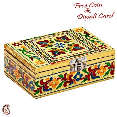Rectangular Shaped Floral Print Multiutility Box