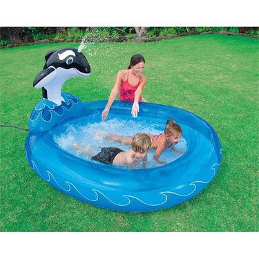 Whale Fish Spray N Splash Swimming Pool for Kids