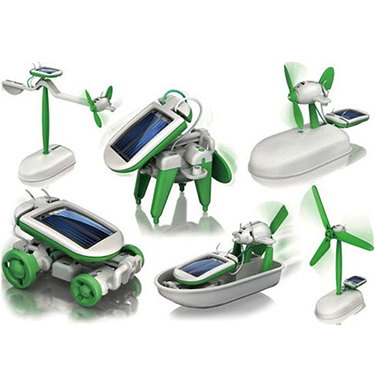 6 in 1 Hybrid Solar Powered Educational Toy Robot Kit