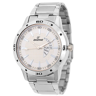 Combo of Dezine Wrist Watch + Aviator Sunglass_CMB94-WHT-YEL