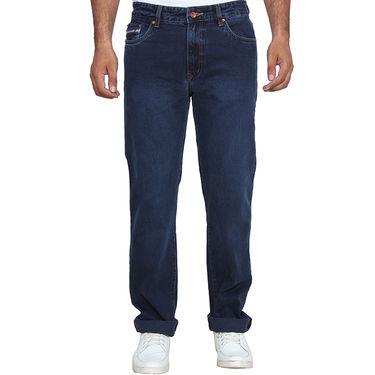 Branded Plain Regular Fit Jeans For Men_Db - Blue