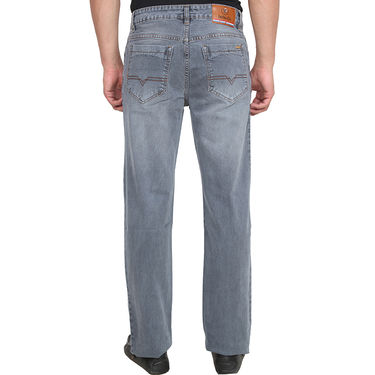 Branded Plain Regular Fit Jeans For Men_Dg - Grey