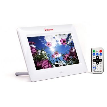 XElectron 700PS 7 Inch Full Function Digital Photo Frame with Remote - White