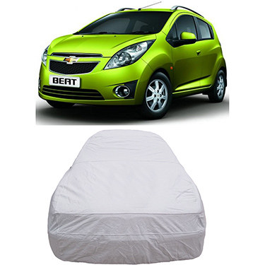 Digitru Car Body Cover for Chevrolet Beat - Silver