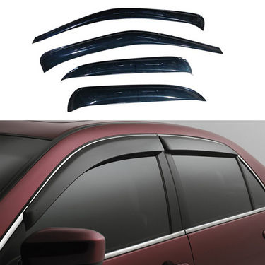 Car Door Visor For Maruti Eeco 4 Pcs - Black