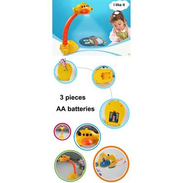 Kids 3in1 Projection Painting Drawing Board Table Lamp Learning Activity Kit