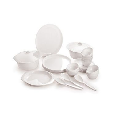 Cello Ware 32 pcs  Dinner Set Round White