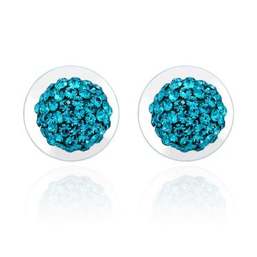 Mahi Rhodium Plated Artificial Earrings_Er1104029r