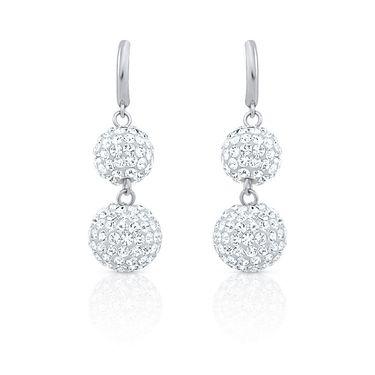 Branded Rhodium Plated Artificial Earrings_Er2193105r