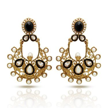 Branded Gold Plated Artificial Earrings_Er30035gbla
