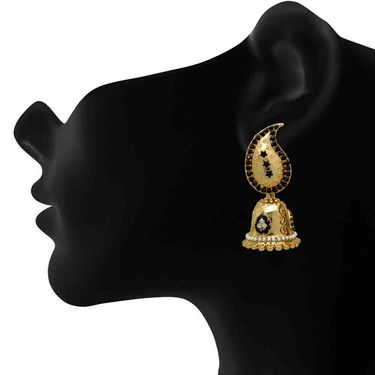 Branded Gold Plated Artificial Earrings_Er30037gbla