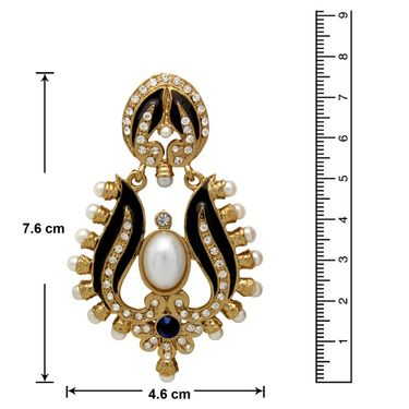 Branded Gold Plated Artificial Earrings_Er30041gbla