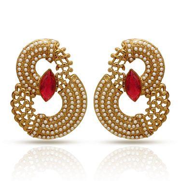 Branded Gold Plated Artificial Earrings_Er30044gred