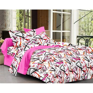 Ahem Homes Cotton  Double Bedsheet  With 2 Pillow Cover-EX1207