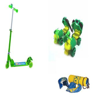 Facto Power Kids Special   2 (Junior Boxing Kit, Kids Scooter, Baby Skates) available at Naaptol for Rs.225