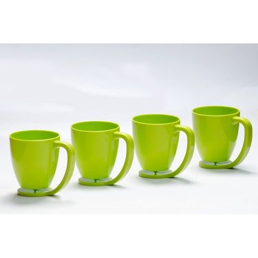 Kitchen Duniya Set of 4 Floating Mugs-Trendy Green