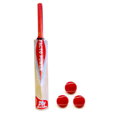 Facto Power Nude Kashmir Willow Size 6 Full Cane Handle Cricket Bat 1441