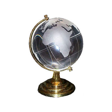 Fengshui Crystal Globe For Education & Business - Transparent