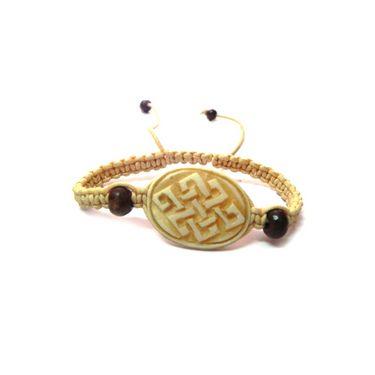 Fengshui Mystic Knot Bracelet Symbol Of Life Long Relation - Cream