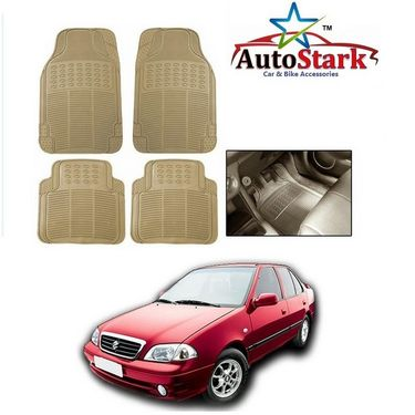 AutoStark - Premium Quality Beige Rubber Car Foot Mat For - Maruti Suzuki Esteem